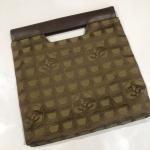 CHANEL tote bag ใบเล็ก สีเขียวเข้ม