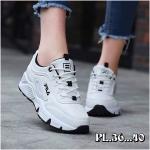 รองเท้าผ้าใบแฟชั่น แต่งลายสไตล์ fila สวยเก๋ วัสดุอย่างดี ทรงสวยใส่สบาย ใส่เที่ยว ออกกำลังกาย แมทสวยเท่ห์ได้ทุกชุด