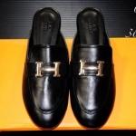 รองเท้าคัทชู เปิดส้น แต่งอะไหล่ H เรียบหรูสไตล์แอร์เมส หนังนิ่ม ทรงสวย ใส่สบาย แมทสวยได้ทุกชุด (P04)