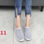 รองเท้าผ้าใบแฟชั่น แบบไร้เชือก สวยเรียบเก๋ วัสดุอย่างดี ผ้านิ่มกระชับเท้า ทรงสวย พื้นยางยืดหยุ่น ใส่สบาย ใส่เที่ยว ออกกำลังกาย แมทสวยเท่ห์ได้ทุกชุด (005)