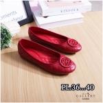 รองเท้าคัทชู ส้นแบน หัวมน เดินเส้นตารางนวมแต่งอะไหล่สวยเก๋สไตล์แบรนด์ หนังนิ่ม พื้นนิ่ม ทรงสวย ใส่สบาย แมทสวยได้ทุกชุด (G318902)