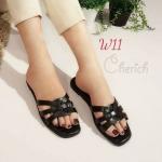 รองเท้าแตะแฟชั่น แบบสวม คาดหน้าสานสไตล์อีฟแซง หนังลายหนังงูสวยเก๋ไฮโซ หนังนิ่ม ทรงสวย ใส่สบาย แมทสวยได้ทุกชุด (915-1)