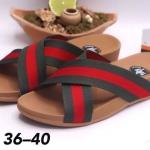 รองเท้าแตะแฟชั่น แบบสวม สายไขว้สไตล์กุชชี่สวยเก๋ พื้นซอฟคอมฟอตนิ่มเพื่อสุขภาพสไตล์ฟิตฟลอบ ใส่สบายมาก แมทสวยได้ทุกชุด