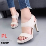 รองเท้าแฟชั่น ส้นสูง รัดส้น เรียบเก๋ดูดี หนังนิ่ม ทรงสวย ใส่สบาย ส้นสูงประมาณ 3 นิ้ว แมทสวยได้ทุกชุด (G5250)