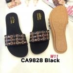 รองเท้าแตะแฟชั่น แบบสวม แต่งอะไหล่สไตล์โบฮีเมี่ยนสวยเก๋ หนังนิ่ม พื้นนิ่ม ทรงสวย ใส่สบาย แมทสวยได้ทุกชุด (CA9828)