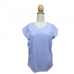 เกรซคิดส์เสื้อให้นมคอวี เปิดด้านข้าง สีฟ้า ยกลัง(4 ชิ้น)