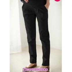 กางเกงคลุมท้องขายาวสีดำ ใส่ลำลองหรือทำงาน