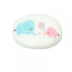 ฟองน้ำอาบน้ำเด็ก หุ้มผ้าขนหนู ลายช้าง ยกลัง(6 ชิ้น)