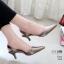 รองเท้าคัทชู ส้นเตี้ย รัดส้น หัวแหลม หนังนิ่ม สไตล์ ZARA สวยชนช็อป สูง 2 นิ้ว น้ำหนักเบา แมทกับชุดไหนก็ง่าย งานขายดีใส่ได้ไม่มีเอาท์ แมทสวยได้ทุกชุด (G24-07) thumbnail 2