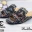 รองเท้าแตะแฟชั่น แบบสวม บุผ้าลายทวิสแต่ง CC สวยเก๋ไฮโซสไตล์ชาแนล หนังนิ่ม ทรงสวย ใส่สบาย แมทสวยได้ทุกชุด (FT632) thumbnail 3