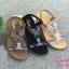 รองเท้าแตะแฟชั่น แบบสวม รัดส้น แต่งคลิสตัลสลับสีสไตล์โบฮีเมียนสวยเก๋ รัดส้นยางยืดนิ่ม หนังนิ่ม พื้นนิ่ม งานสวย ใส่สบาย แมทสวยได้ทุกชุด (318-44) thumbnail 1