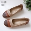 รองเท้าคัทชู ส้นแบน แต่งสีไล่โทนสีลายฉลุสวยเก๋ หนังนิ่ม พื้นนิ่ม เพื่อสุขภาพ ทรงสวย สูงประมาณ 1 นิ้ว ใส่สบาย แมทสวยได้ทุกชุด (10193) thumbnail 3