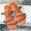 รองเท้า แตะแฟชั่น แบบสวม แต่งหนังเส้นลายฉลุสวยเก๋สไตล์แอร์เมส หนังนิ่ม ทรงสวย ใส่สบาย แมทสวยได้ทุกชุด (MR27) thumbnail 1