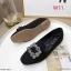 รองเท้าคัทชู ส้นเตี้ย ผ้าสักหราดแต่งอะไหล่สวยหรู ทรงสวย หนังนิ่ม ใส่สบาย แมทสวยได้ทุกชุด (K5064) thumbnail 2
