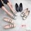 รองเท้าคัทชู ส้นเตี้ย แต่งอะไหล่สวยหรู ทรงสวย หนังนิ่ม ใส่สบาย แมทสวยได้ทุกชุด (K5067) thumbnail 3