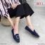 รองเท้าคัทชู ส้นเตี้ย ผ้าสักหราดแต่งอะไหล่สวยหรู ทรงสวย หนังนิ่ม ใส่สบาย แมทสวยได้ทุกชุด (K5064) thumbnail 1