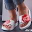รองเท้าแตะแฟชั่น แบบสวม แต่งลาย chupa chups สไตล์ fila สวยเก๋ หนังนิ่ม พื้นนิ่ม งานสวย ใส่สบาย แมทสวยได้ทุกชุด thumbnail 2