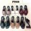 รองเท้าแฟชั่น ส้นสูง แบบสวม ดีไซน์หนังเส้นเก็บหน้าเท้าเรียบเก๋ หนังนิ่ม ทรงสวย ส้นตัดสูงประมาณ 3 นิ้ว ใส่สบาย แมทสวยได้ทุกชุด (FT608) thumbnail 2