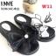 รองเท้าแตะแฟชั่น แบบสวม ส้นมัฟฟิน แต่งโบว์ใหญ่ลายสวยเก๋น่ารัก ขอบแต่งหมุดสวยเก๋ หนังนิ่ม ทรงสวย ใส่สบาย แมทสวยได้ทุกชุด (MK226) thumbnail 3