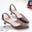 รองเท้าคัทชู ส้นเตี้ย รััดส้น สไตล์ ZARA หนัง pu รุ่นใหม่ดูแพง หนังเงาสวยนิ่ม ส้นหมุดทองสวยเก๋ ทรงสวย สูงประมาณ 1.5 นิ้ว ใส่สบาย แมทสวยได้ทุกชุด (10202) thumbnail 2