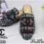 รองเท้าแตะแฟชั่น แบบสวม บุผ้าลายทวิสแต่ง CC สวยเก๋ไฮโซสไตล์ชาแนล หนังนิ่ม ทรงสวย ใส่สบาย แมทสวยได้ทุกชุด (FT632) thumbnail 2