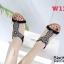 รองเท้าแตะแฟชั่น แบบสวม รัดส้น แต่งมุกคริสตัลสวยหรูสไตล์โบฮีเมียน รัดส้นยางยืดนิ่ม หนังนิ่ม ทรงสวย ใส่สบาย แมทสวยได้ทุกชุด (B1817-2) thumbnail 2