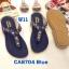 รองเท้าแตะแฟชั่น แบบหนีบ แต่งอะไหล่สวยเก๋ หนังนิ่ม ทรงสวย ใส่สบาย แมทสวยได้ทุกชุด (CA8704) thumbnail 1