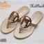 รองเท้าแตะแฟชั่น แบบหนีบ แต่งหน้า H สวยหรูสไตล์แอร์เมส หนังนิ่ม ทรงสวย ใส่สบายมาก แมทสวยได้ทุกชุด (FT-625) thumbnail 2