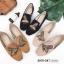 รองเท้าคัทชู ส้นแบน หนังสักหราดแต่งลายผึ้งปักสวยเรียบหรูสไตล์แบรนด์ หนังนิ่ม ทรงสวย ใส่สบาย แมทสวยได้ทุกชุด (2015-247) thumbnail 4