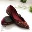 รองเท้าคัทชู ส้นแบน สไตล์ซาร่าห์ ทรงหัวแหลม ประดับคลิสตัลทั้งตัวสวยหรู หนังนิ่ม ทรงสวย ใส่สบาย แมทสวยได้ทุกชุด (10199) thumbnail 3