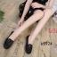 รองเท้าคัทชู ทรง loafer ส้นแบน แต่งอะไหล่สวยเรียบเก๋ หนังนิ่ม พื้นนิ่ม ทรงสวย ใส่สบาย แมทสวยได้ทุกชุด (K5924) thumbnail 3