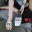 รองเท้าแตะแฟชั่น แบบสวม แต่งลายสไตล์กุชชี่สวยเก๋ไฮโซ หนังนิ่ม ทรงสวย ใส่สบาย แมทสวยได้ทุกชุด (D-18) thumbnail 1