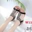 รองเท้าแตะแฟชั่น แบบสวม รัดส้น แต่งมุกคริสตัลสวยหรูสไตล์โบฮีเมียน รัดส้นยางยืดนิ่ม หนังนิ่ม ทรงสวย ใส่สบาย แมทสวยได้ทุกชุด (B1817-2) thumbnail 3