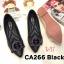 รองเท้าคัทชู ส้นเตี้ย แต่งอะไหล่สวยหรู หนังนิ่ม ทรงสวย ใส่สบาย แมทสวยได้ทุกชุด (CA266) thumbnail 1
