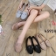 รองเท้าคัทชู ทรง loafer ส้นแบน แต่งอะไหล่สวยเรียบเก๋ หนังนิ่ม พื้นนิ่ม ทรงสวย ใส่สบาย แมทสวยได้ทุกชุด (K5924) thumbnail 5