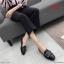 รองเท้าคัทชู ส้นเตี้ย แต่งอะไหล่สวยหรู ทรงสวย หนังนิ่ม ใส่สบาย แมทสวยได้ทุกชุด (K5067) thumbnail 1