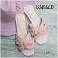 รองเท้าแตะแฟชั่น แบบสวม แต่งหนังสานสไตล์อีฟแซง YSL สีพาสเทลสวยหวานไฮโซ หนังนิ่ม ทรงสวย ใส่สบาย แมทสวยได้ทุกชุด (MR11) thumbnail 1