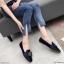 รองเท้าคัทชู ส้นแบน แต่งอะไหล่สวยหรูสไตล์แบรนด์ หนังนิ่ม ทรงสวย ใส่สบาย แมทสวยได้ทุกชุด (K5065) thumbnail 2