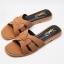 รองเท้าแตะแฟชั่น แบบสวม คาดหน้าสไตล์อีฟแซงสวยเก๋ อินเทรนด์ หนังนิ่ม ทรงสวย ใส่สบาย แมทสวยได้ทุกชุด (FT-607) thumbnail 1