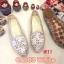 รองเท้าคัทชู ส้นแบน แต่งลายดอกไม้ ฉลุลายสวยหวานสไตล์วินเทจ หนังนิ่ม ทรงสวย ใส่สบาย แมทสวยได้ทุกชุด (CA183) thumbnail 1