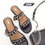 รองเท้าแตะแฟชั่น แบบสวม แต่งโซ่สวยเก๋สไตล์แบรนด์ หนังนิ่ม ทรงสวย ใส่สบาย แมทสวยได้ทุกชุด (A305) thumbnail 1