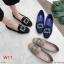รองเท้าคัทชู ส้นเตี้ย ผ้าสักหราดแต่งอะไหล่สวยหรู ทรงสวย หนังนิ่ม ใส่สบาย แมทสวยได้ทุกชุด (K5064) thumbnail 3