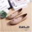 รองเท้าคัทชู ส้นแบน หัวมน เดินเส้นตารางนวมแต่งอะไหล่สวยเก๋สไตล์แบรนด์ หนังนิ่ม พื้นนิ่ม ทรงสวย ใส่สบาย แมทสวยได้ทุกชุด (G318902) thumbnail 2