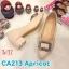 รองเท้าคัทชู ส้นเตี้ย แต่งอะไหล่เพชรสวยหรู หนังนิ่ม ทรงสวย ส้นสูงประมาณ 2 นิ้ว ใส่สบาย แมทสวยได้ทุกชุด (CA213) thumbnail 1