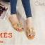 รองเท้าแตะแฟชั่น แบบสวม คาดหน้า H หนังลายหนังงูแต่งอะไหล่สไตล์แอร์เมสสวยหรู ใส่สบาย แมทสวยได้ทุกชุด (J341) thumbnail 1