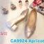 รองเท้าคัทชู ส้นเตี้ย แต่งลายไขว้ด้านหน้าสวยเก๋ หนังนิ่ม ทรงสวย ส้นสูงประมาณ 2 นิ้ว ใส่สบาย แมทสวยได้ทุกชุด (CA9924) thumbnail 1
