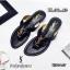 รองเท้าแตะแฟชั่น แบบหนีบ แต่งอะไหล่ ysl สวยเรียบหรูสไตล์อีฟแซง วัสดุอย่างดี หนังนิ่ม ทรงสวย ใส่สบาย แมทสวยได้ทุกชุด (U307-57) thumbnail 2