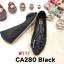 รองเท้าคัทชุ ส้นเตารีด แต่งอะไหล่เข็มขัดเพชรสวยหรู หนังนิ่ม ทรงสวย สูงประมาณ 2 นิ้ว ใส่สบาย แมทสวยได้ทุกชุด (CA280) thumbnail 1