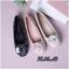 รองเท้าคัทชู ส้นแบน หัวมน บุผ้าลายทวิสแต่งดอกคามิเลียสวยหวานสไตล์ชาแนล หนังนิ่ม พื้นนิ่ม ทรงสวย ใส่สบาย แมทสวยได้ทุกชุด thumbnail 3