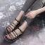 รองเท้าแตะแฟชั่น ส้นมัฟฟิน รัดส้น แบบสวม ดีไซน์หนังเส้นแต่งโซ่สวยเก๋ หนังนิ่ม ทรงสวย ใส่สบาย แมทสวยได้ทุกชุด thumbnail 2